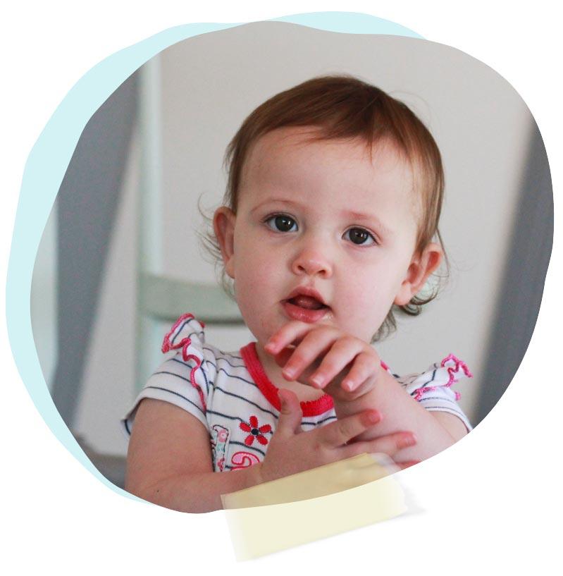 A cute baby in nursey