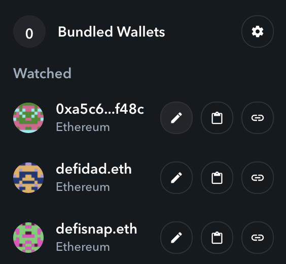 Edit your wallet names on Zapper