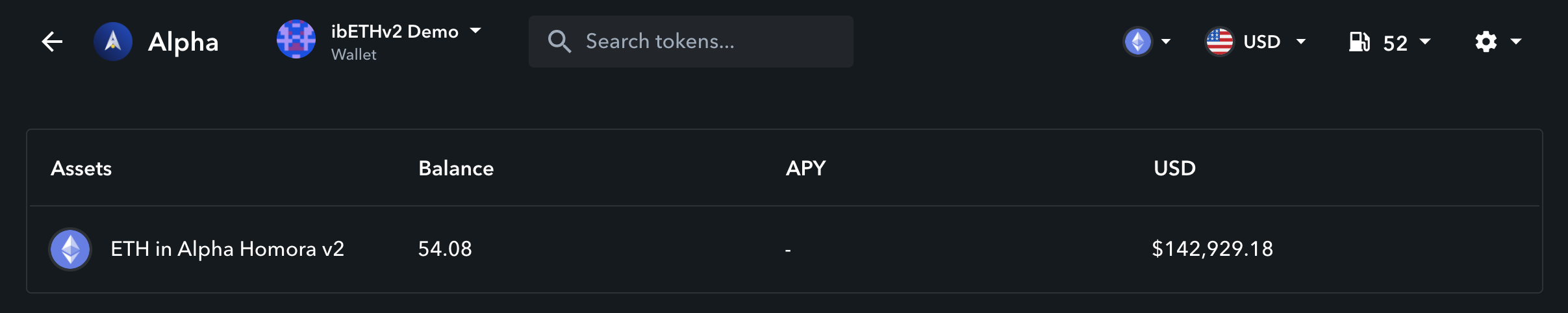 Track your ibTokens from Alpha Homora on Zapper