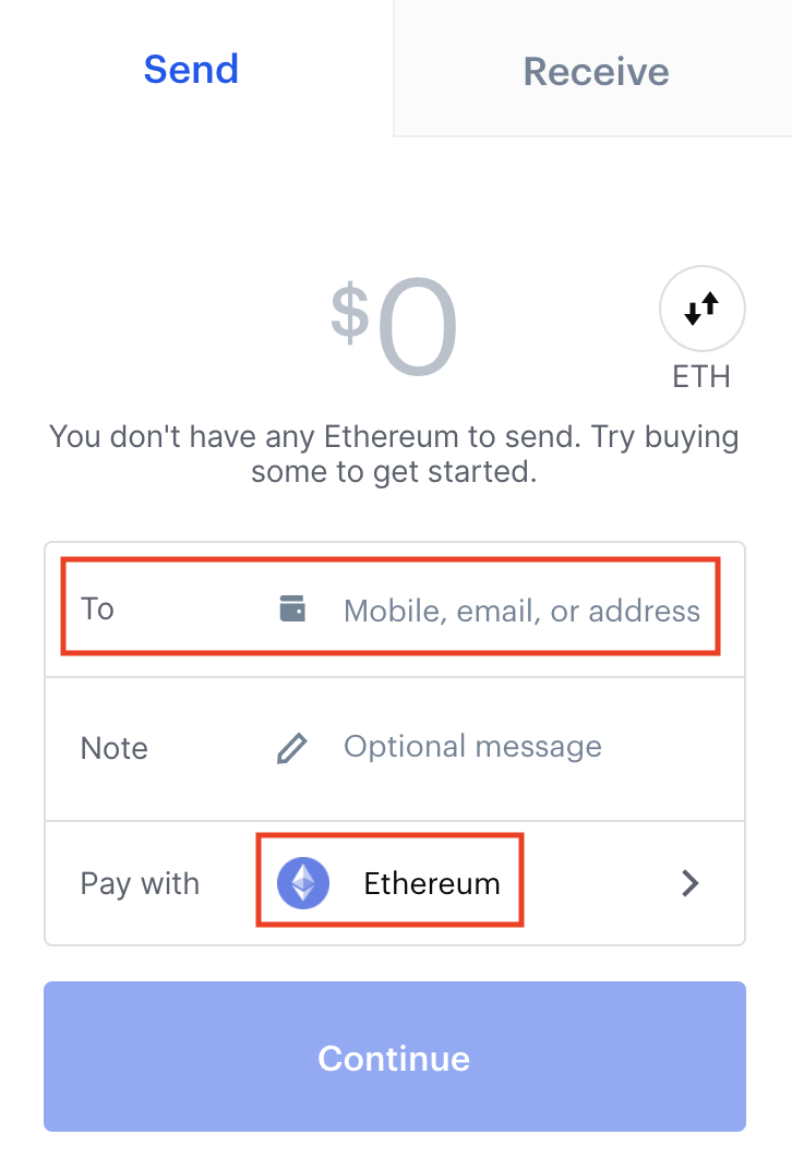 How to paste a wallet address into Coinbase