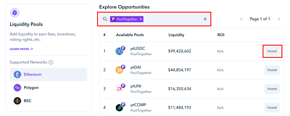 How to Invest in PoolTogether on Zapper