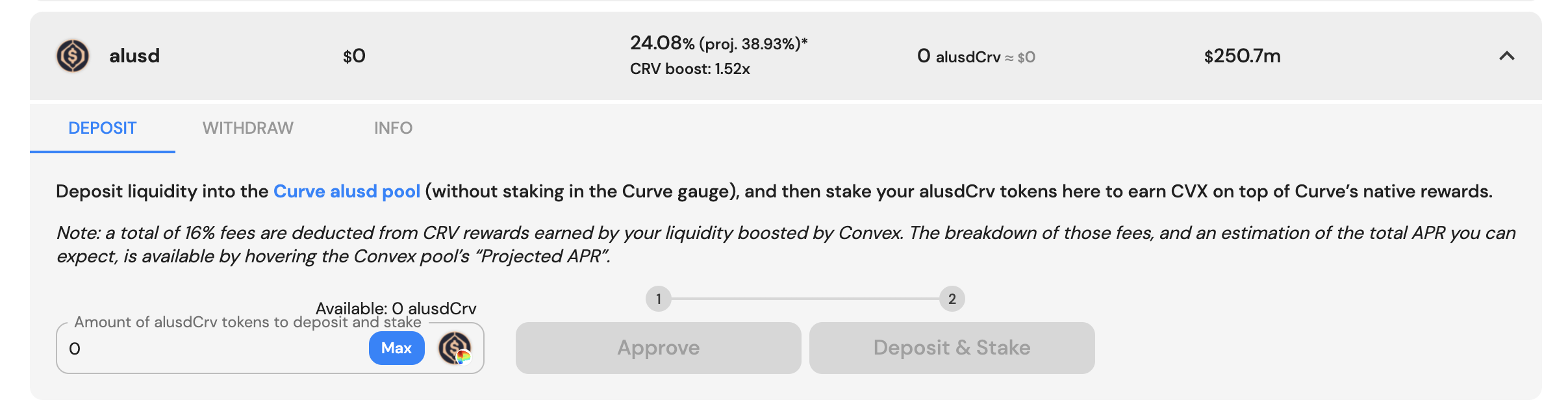 How to Stake alUSD3CRV LP with Convex Finance