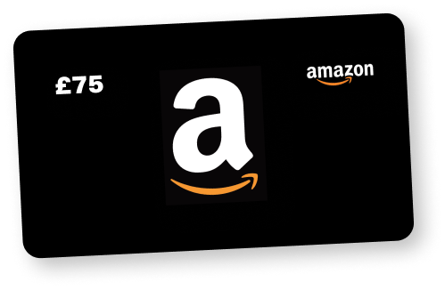 Claim your £75 Amazon.co.uk Gift Card