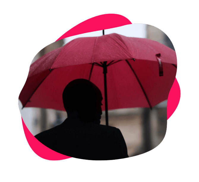 Image of a person holding an umbrella