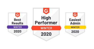 Best Results Winter 2020, High performer Winter 2020, Easiest Admin Winter 2020