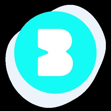 "Large green ""B"" on white background"