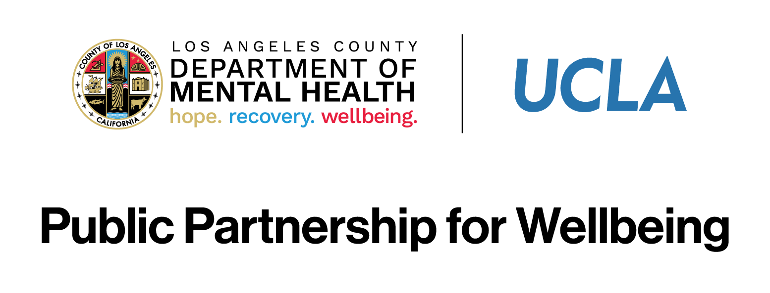 UCLA Public Partnership for Wellbeing  logo and site link