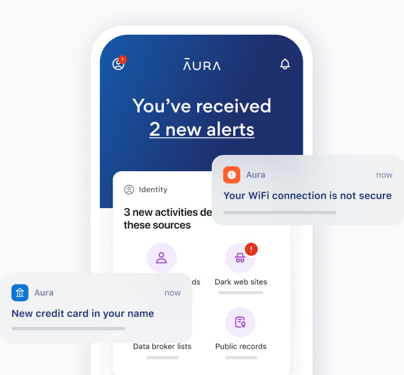 Aura app with notifications