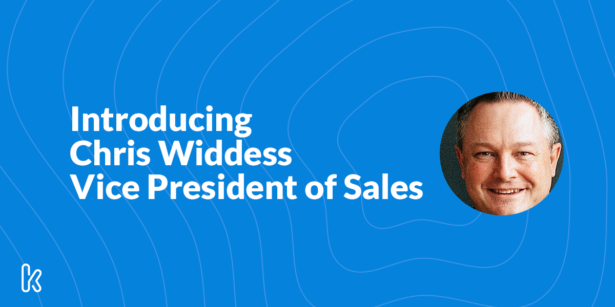 Introducing our Vice President of Sales, Chris Widdess