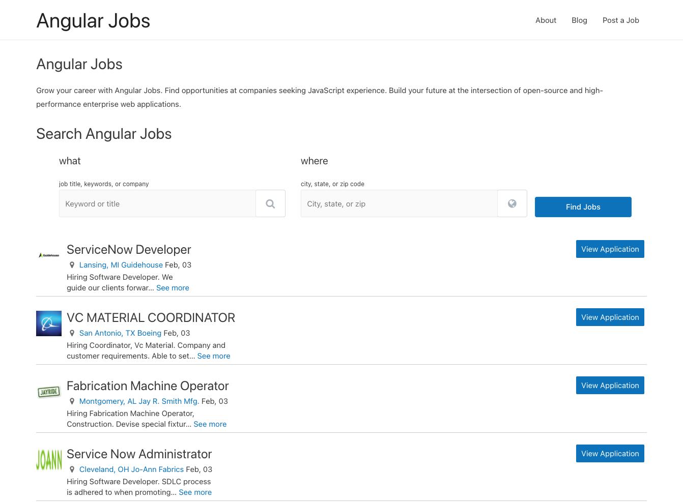 Angular Jobs