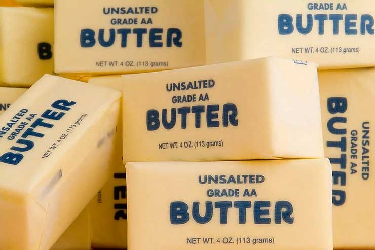 Traditional wrapped unsalted grade aa butter sticks