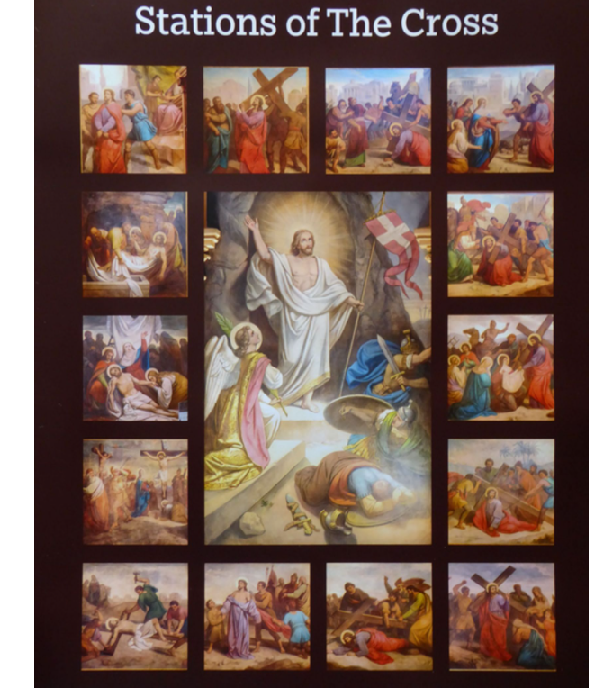 a visual of the 14 stations of the cross