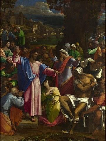 The Raising of Lazarus, Oil on canvas, c.