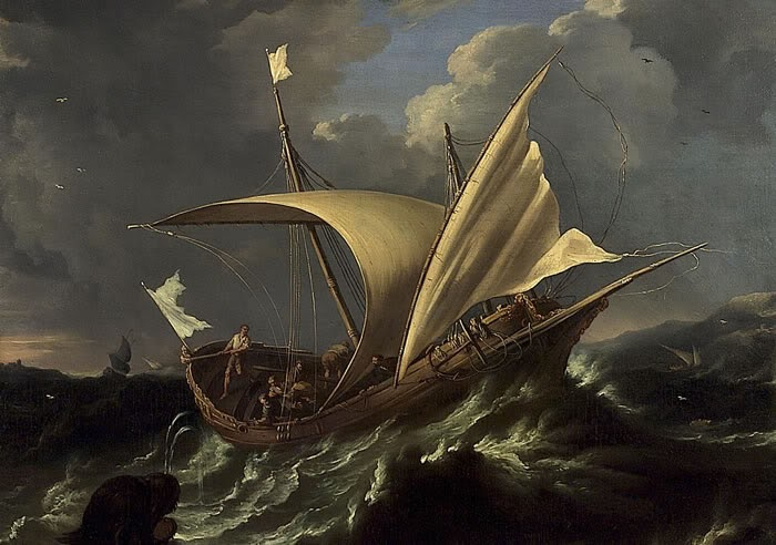 Jonah and the whale - Dutch painting