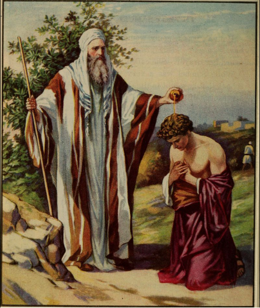 painting of Samuel annointing David