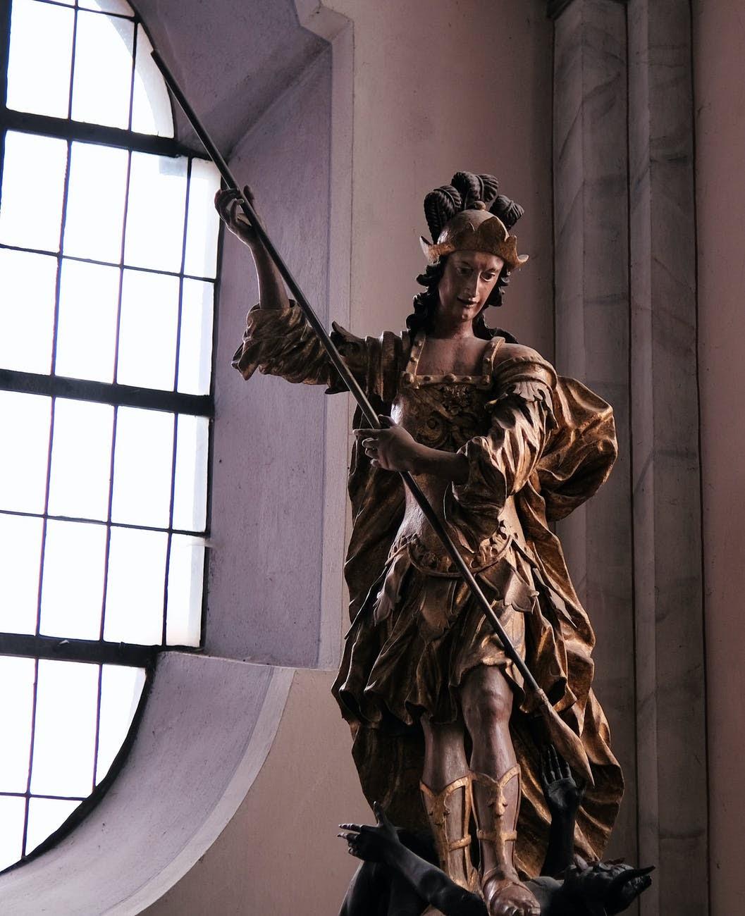 Sculpture of the Archangel Saint Michael