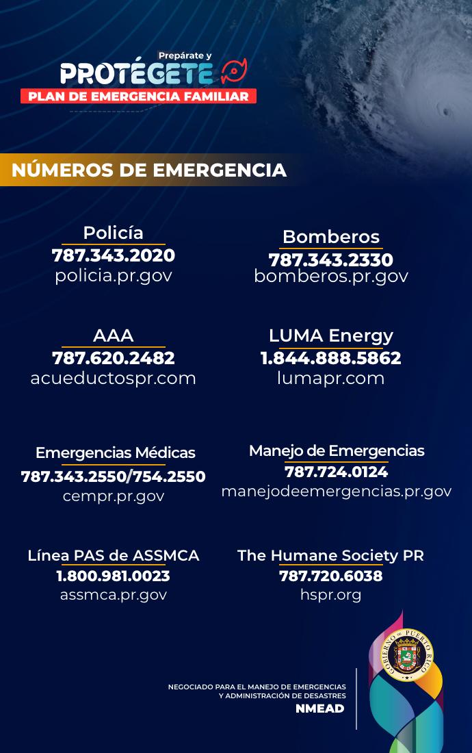 Número de Emergencia durante Huracanes