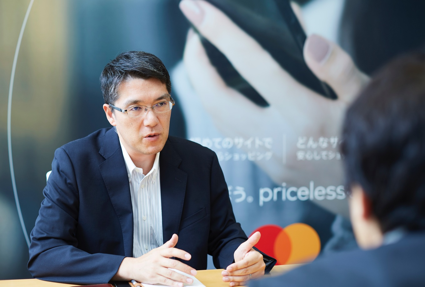 Mastercard and Cashless expert Iwata sensei discuss about debit card with Moneytree for Moneytree B2B blog 2019 Maeda san from Mastercard