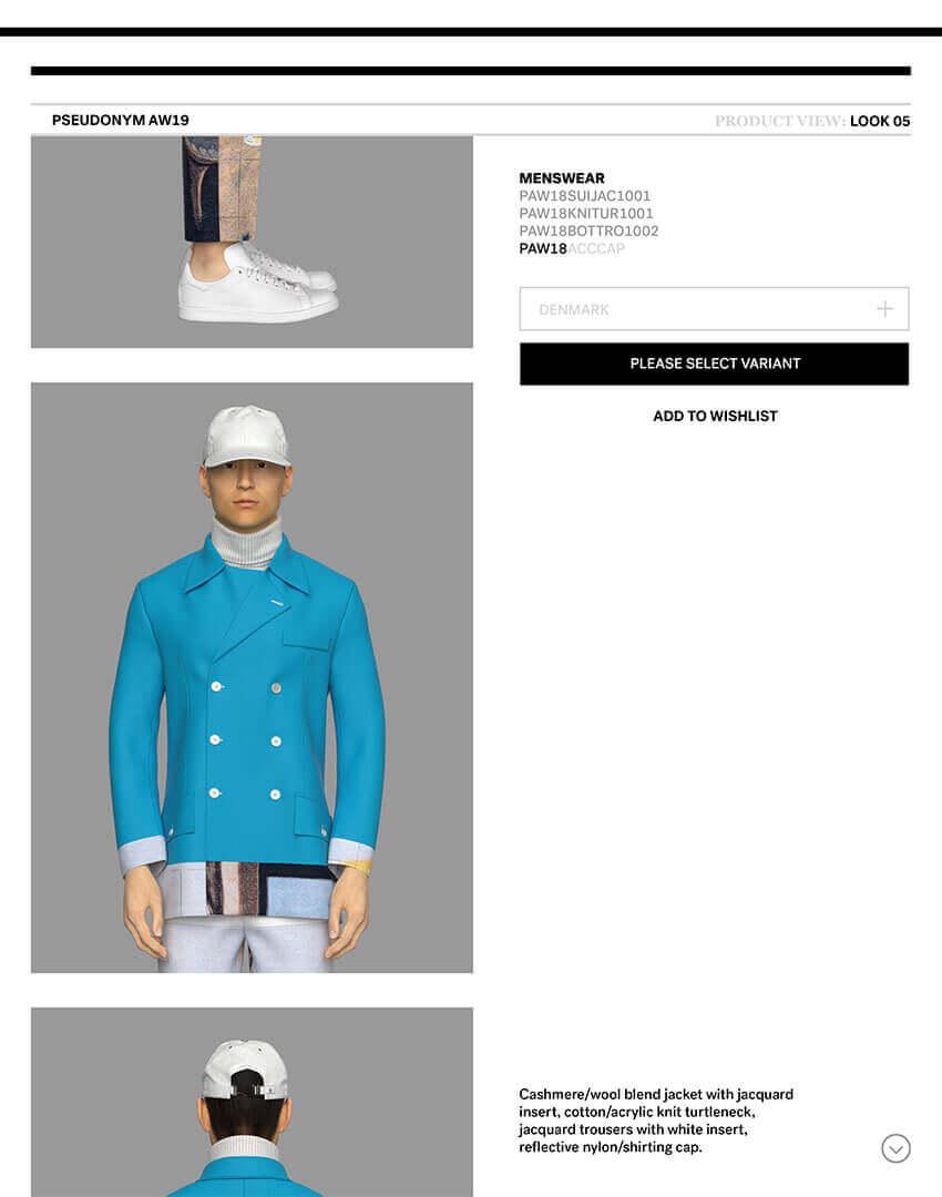PSEUDONYM SS20 fashion/apparel campaign, Virtual Artifacts 08—schoolboy.