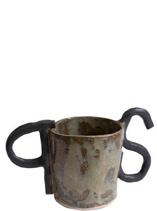 Glazed stoneware planter with P.S. handles, Pseudonym Objects for Everyday Living.