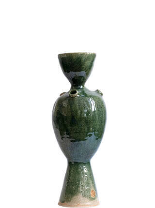 """Glazed stoneware vase inspired by the plongeur from Jules Verne's """"Twenty Thousand Leagues Under the Sea"""" , Pseudonym Objects for Everyday Living."""