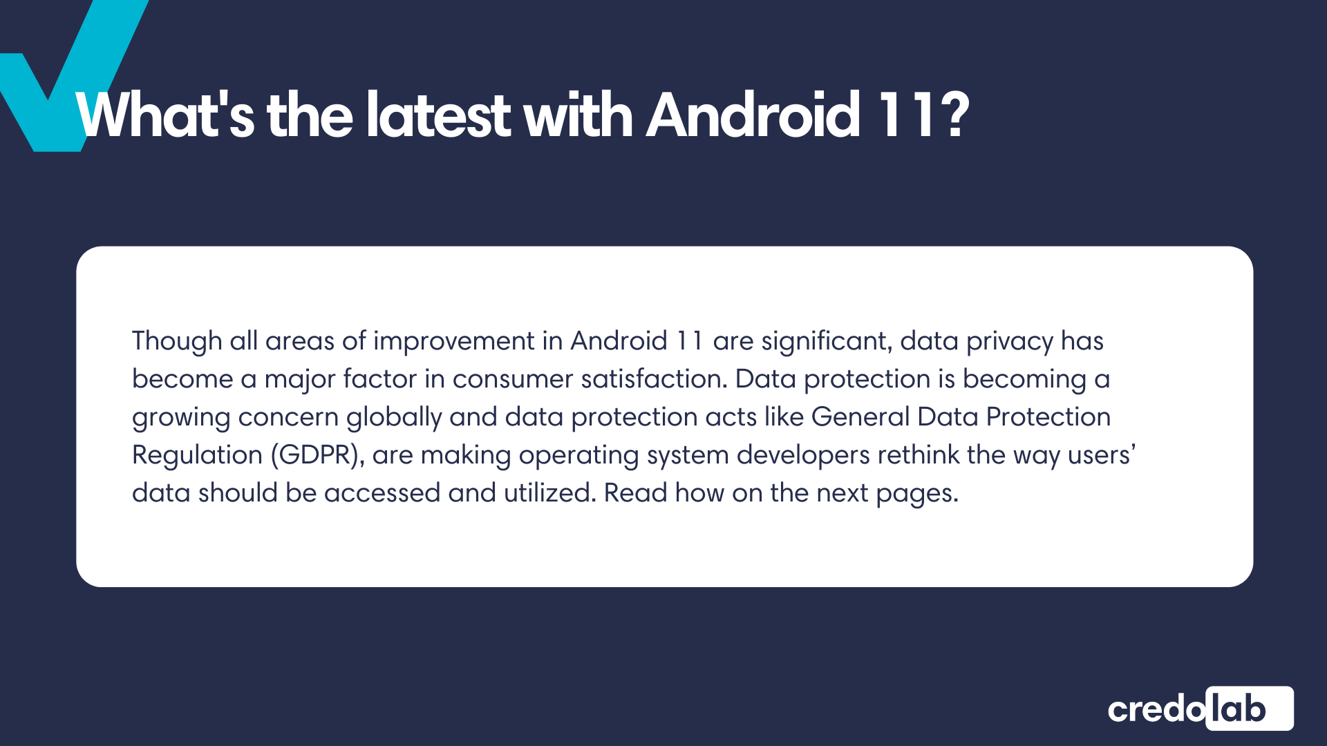 Credolab - Infographic - Credolab &Android 11: it works!