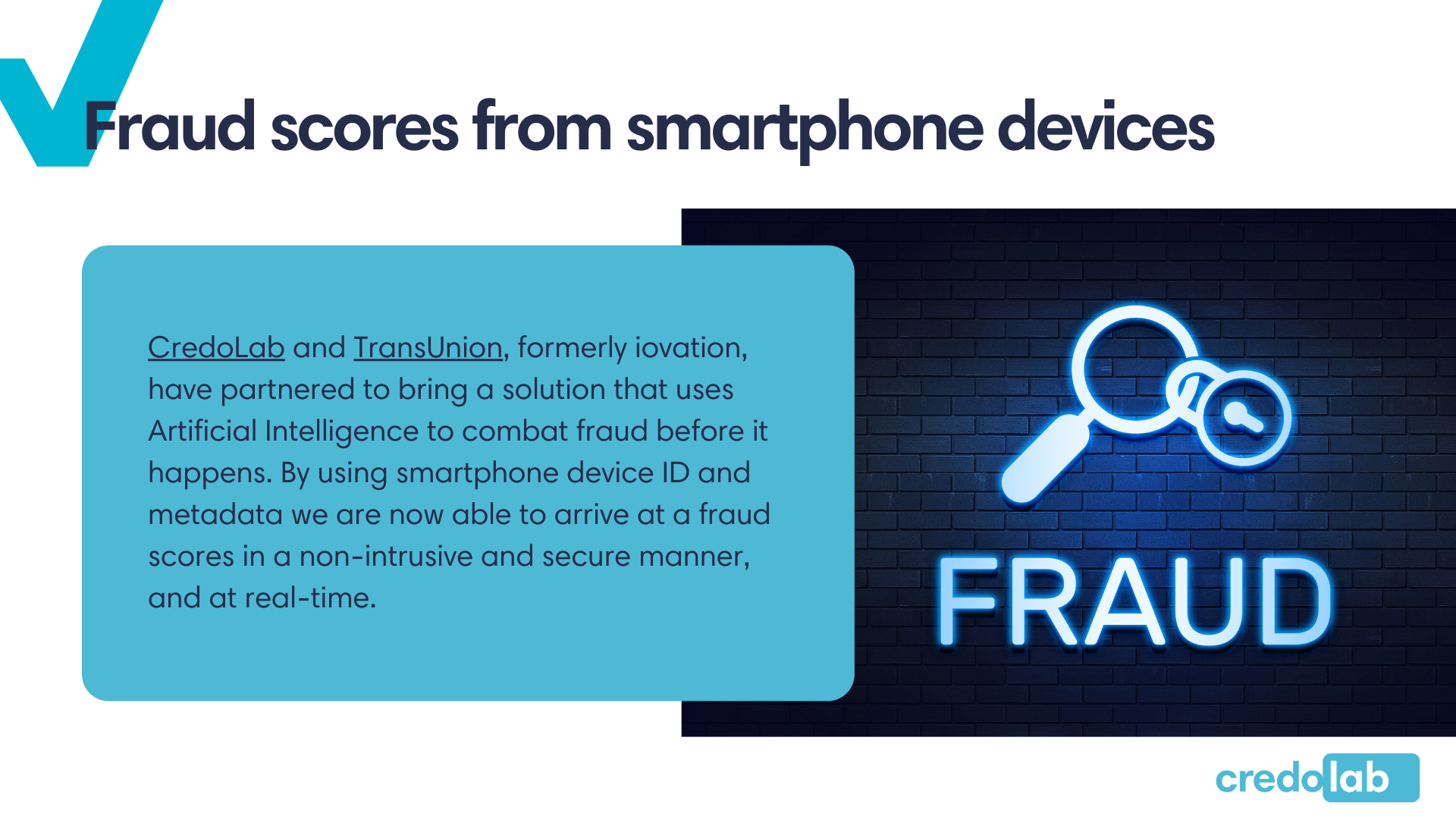 Credolab - Infographic: Fraud scores from smartphone devices