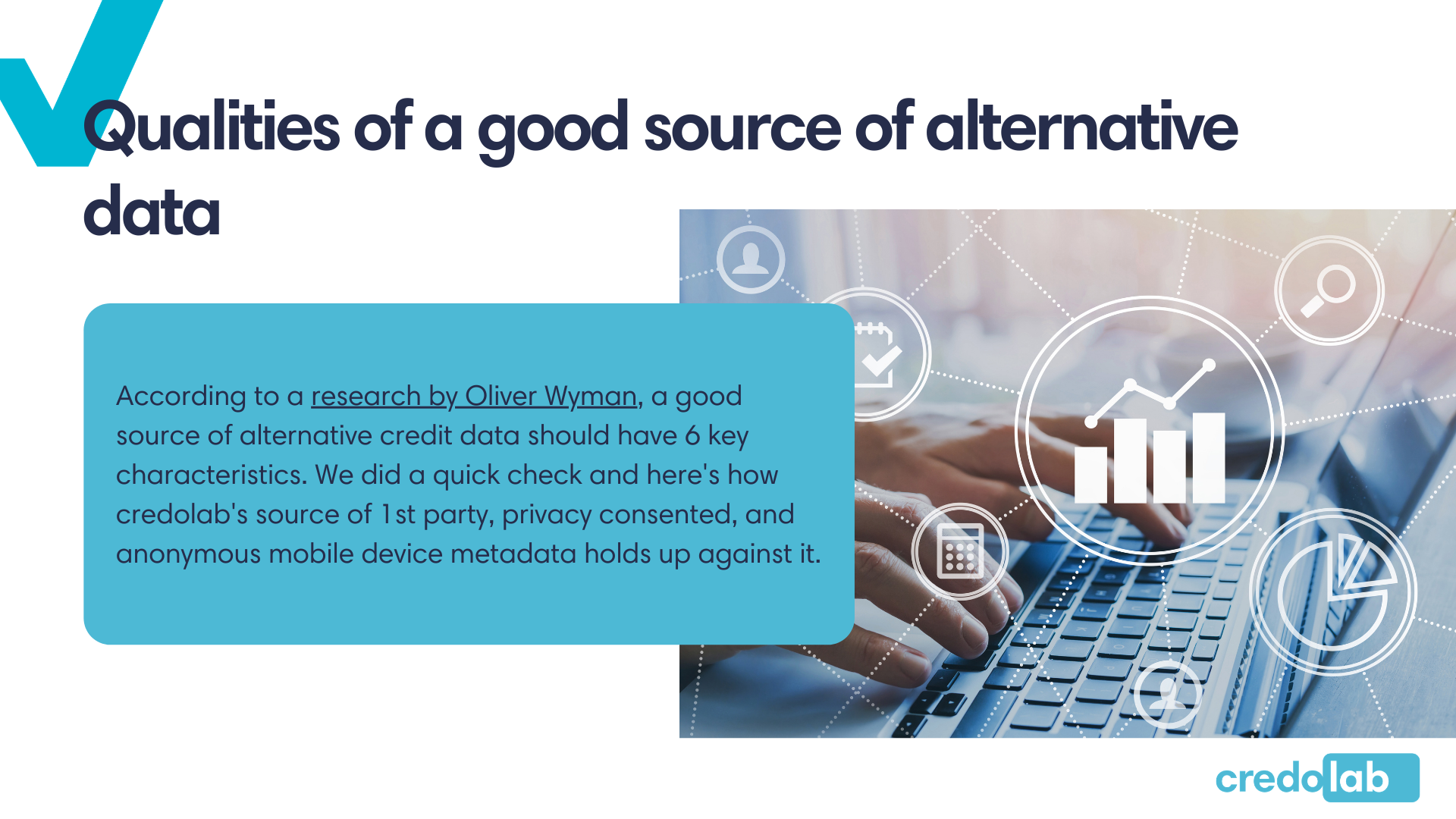 Credolab - Infographic: Qualities of a good source of alternative data