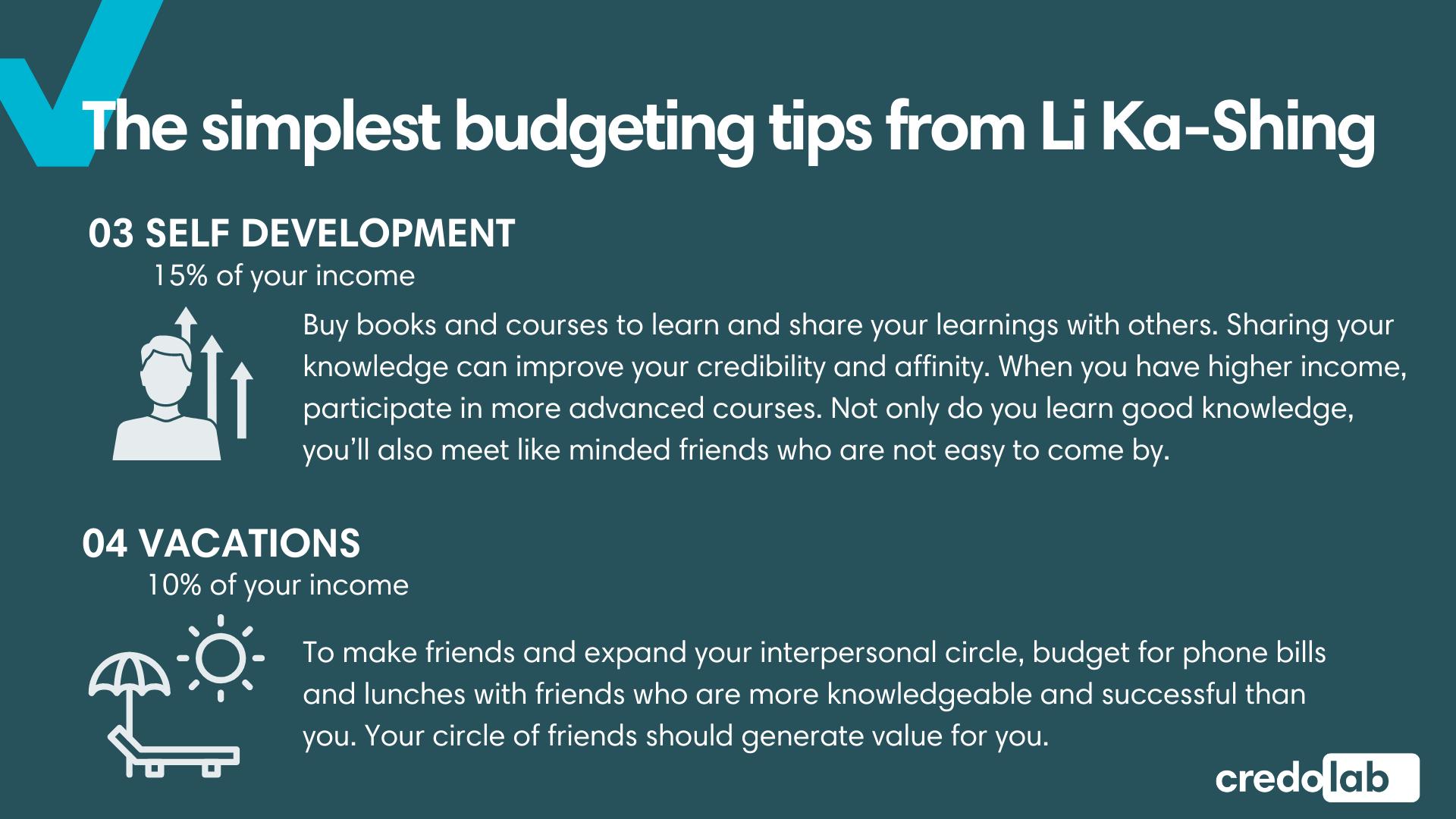 Credolab - Infographic: The simplest budgeting tips from Li Ka-Shing