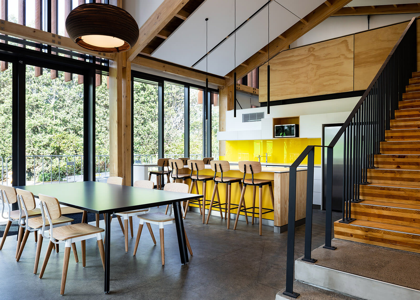 Informal collaboration areas create space for teams to come together