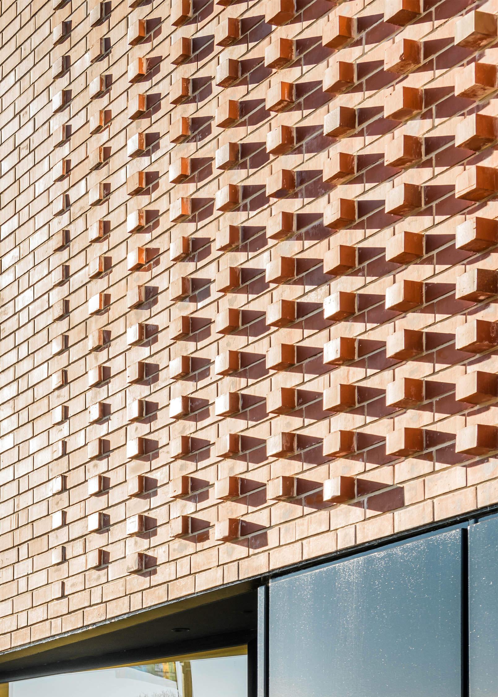 Feature red brick façade