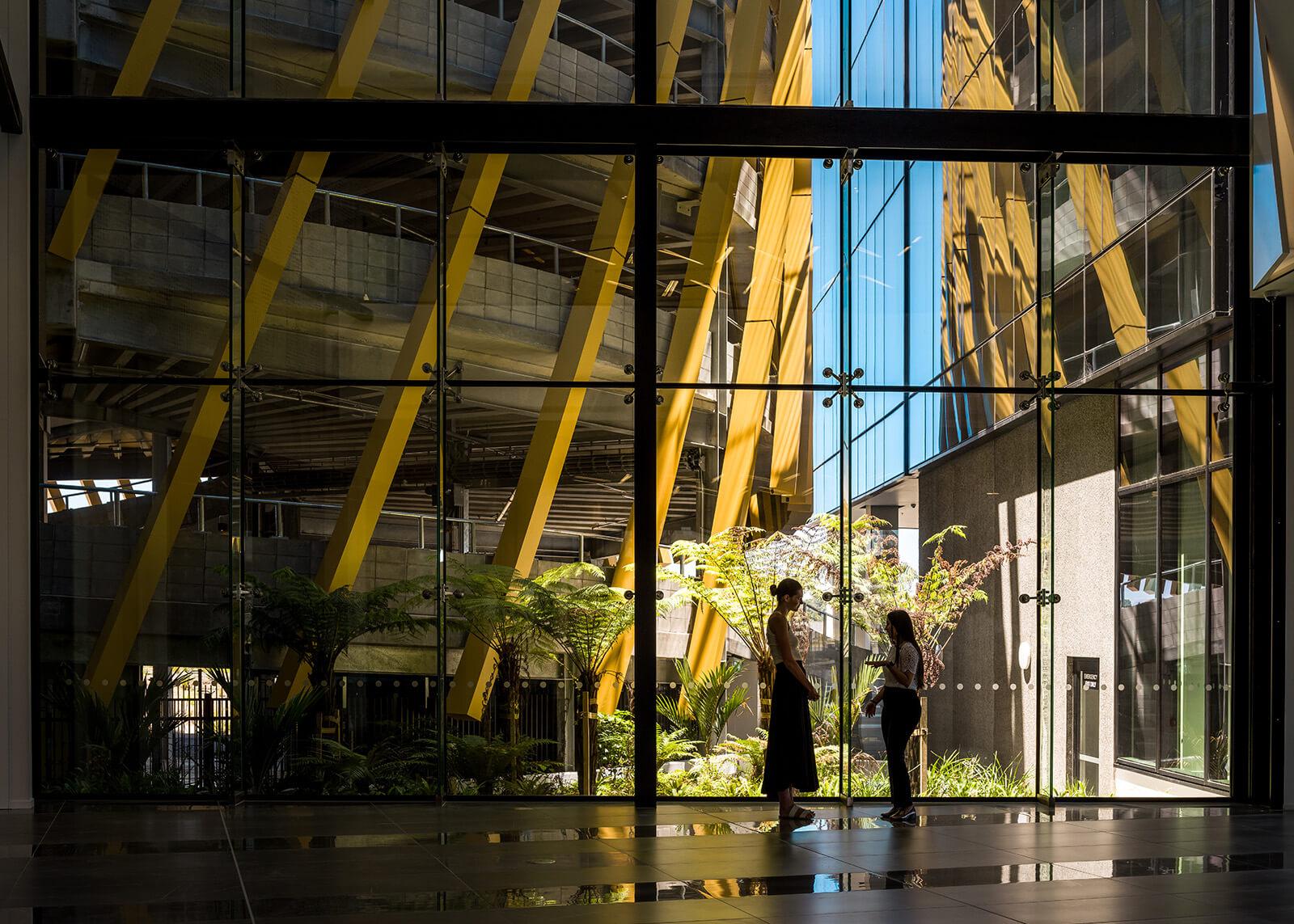 Glass atrium and biophilia