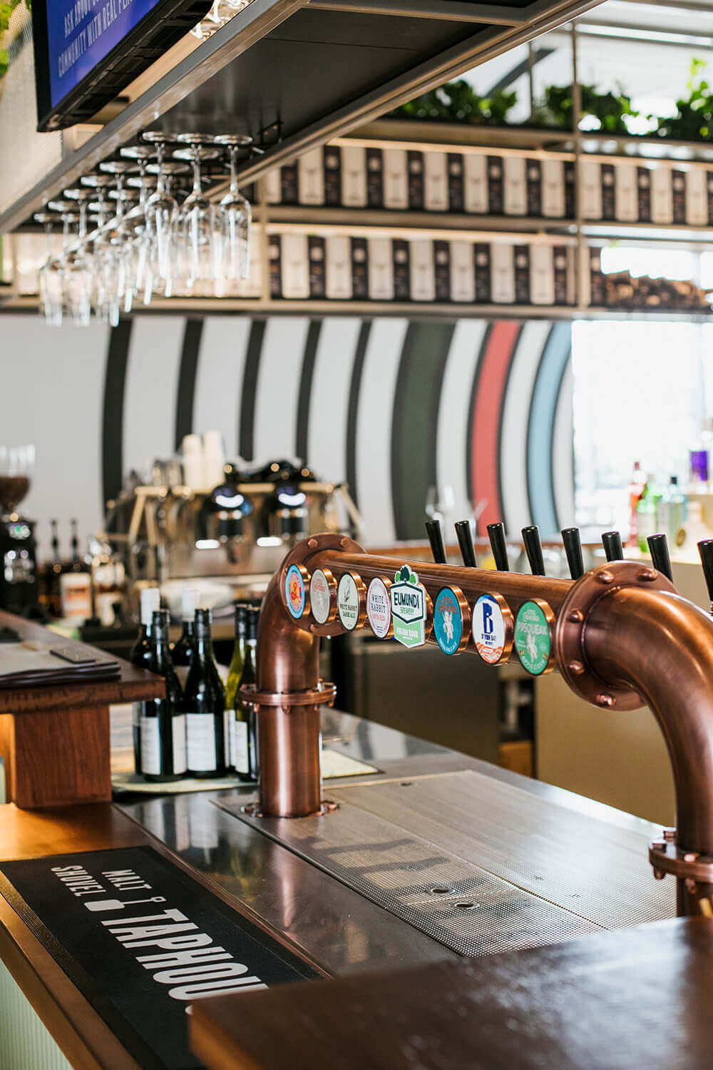 An extensive range craft beers on tap