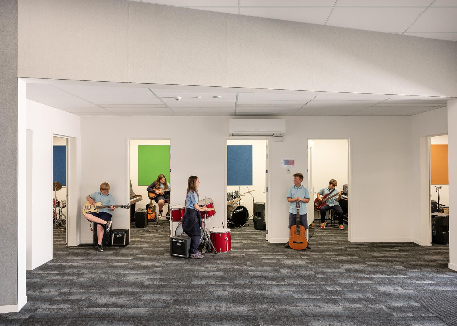 Music practice suites