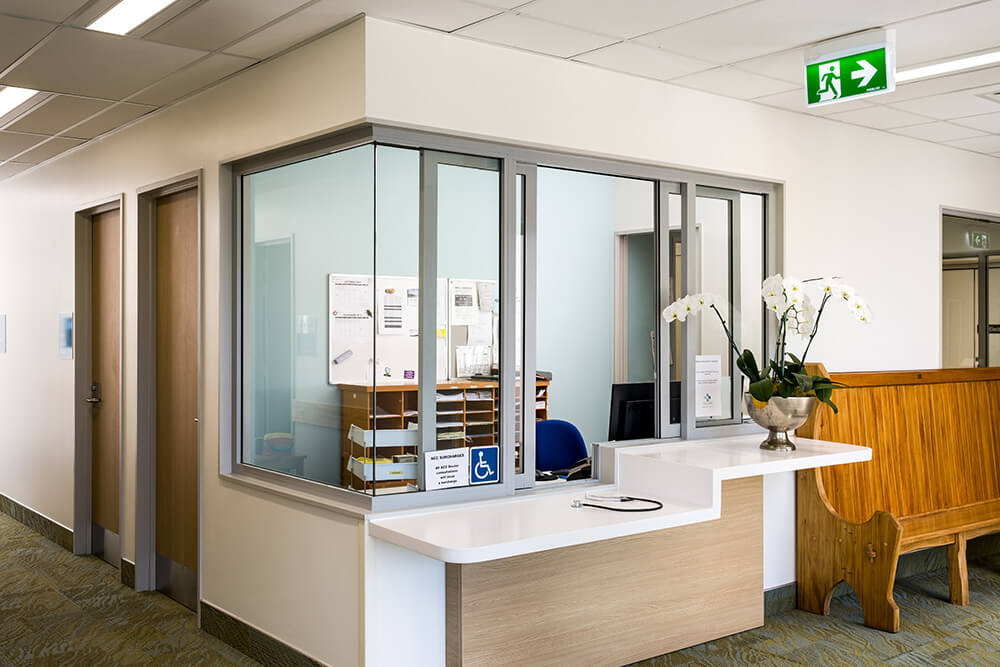 Carefully placed windows maintain patient privacy