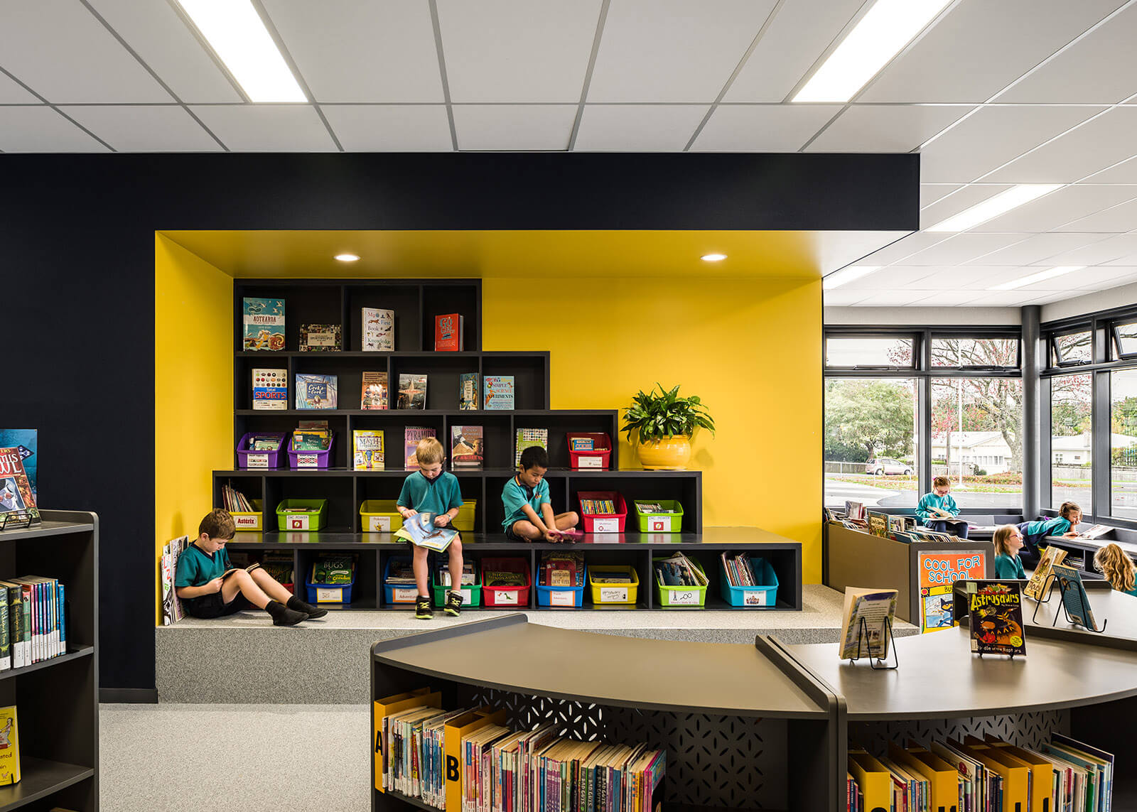 Large open library spaces