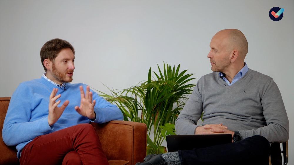 Svein og Hans Andreas snakker om forandringer under og etter koronapandemien.