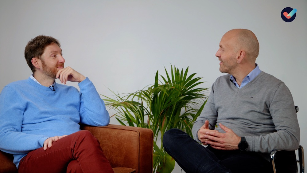 Svein og Hans Andreas snakker om hvordan man kan finne balansen mellom jobb og privatliv.