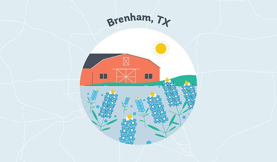 brenham tx graphic