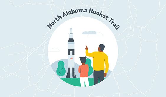 North Alabama Rocket Trail Graphic