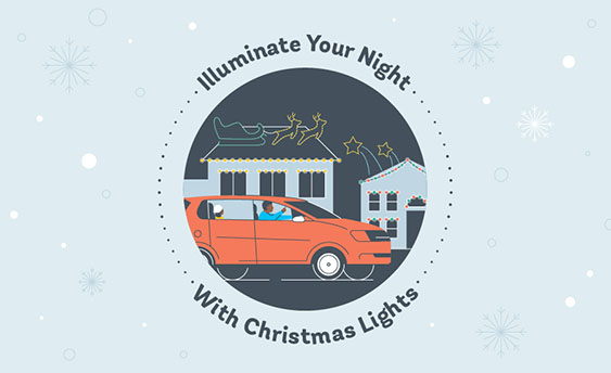 holiday chrstmas lights graphic