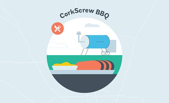 corkscrew bbq graphic
