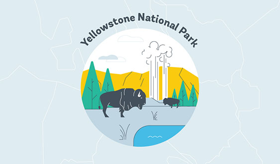yellowstone national park graphic