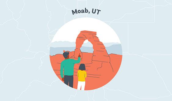 moab utah graphic