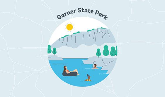 garner state park graphic