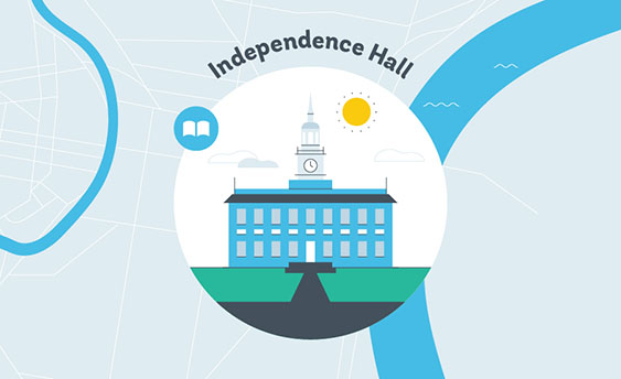 independence hall graphic