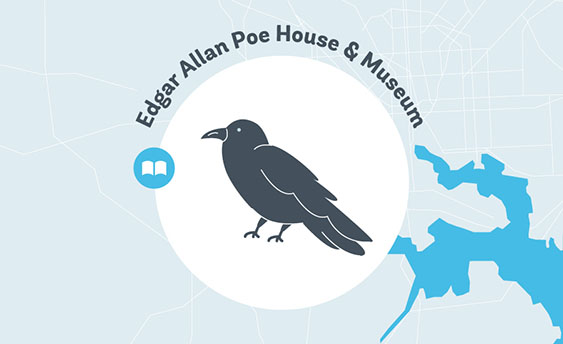 edgar allen poe house and museum graphic