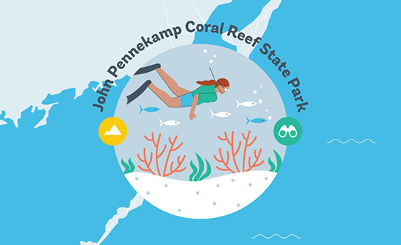 john pennekamp coral reef state park graphic