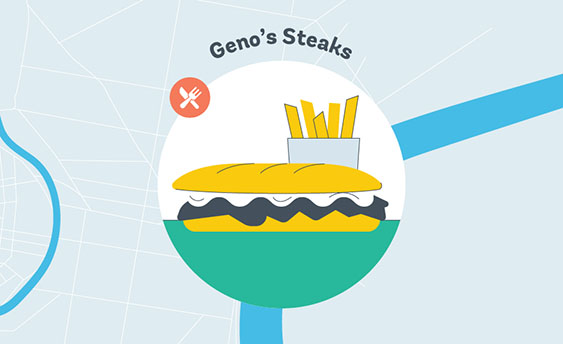 geno's steaks graphic