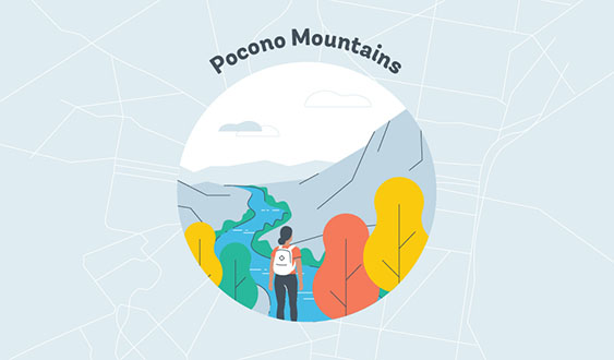 pocono mountains graphic